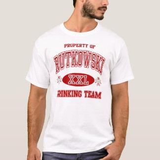 Rutkowski Polnisch-trinkendes Team T-Shirt