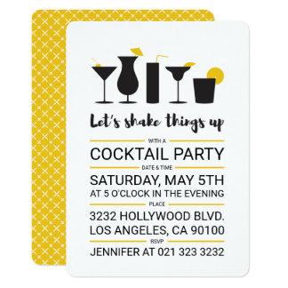 Rütteln Sie es herauf Cocktail-Party Karte