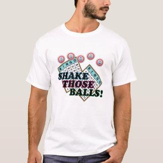 Rütteln Sie jene Ball-bunten Text T-Shirt
