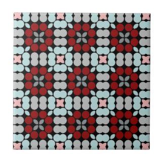 Rüttler LUISE rotes Blau Kleine Quadratische Fliese