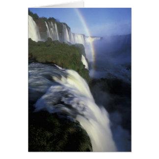 S.A., Brasilien, Iguassu fällt Fälle mit Karte