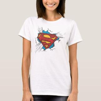 S-Bouclier | de Superman dans le logo de nuages T-shirt