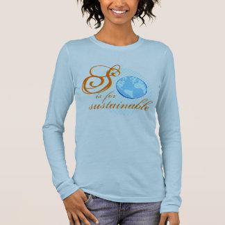 S ist für nachhaltige Damen-langen Hülsen-T - Langarm T-Shirt
