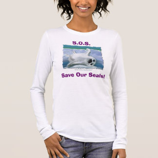 S.O.S. ~ retten unser Siegel! Langärmeliges T-Shirt