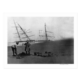 S.S. Wrack Alices McDonald Ilwaco Halbinsel Postkarte