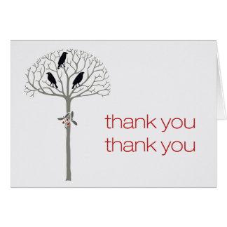 Saatkrähe und Stechpalme danken Ihnen Karte
