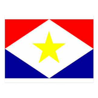 Saba Flagge Postkarte
