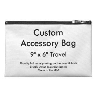 """Sac accessoire fait sur commande - 9"""" x 6"""" voyage trousses à accessoires de voyage"""