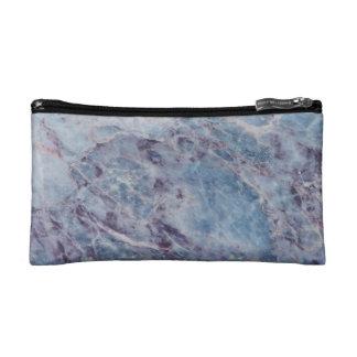 Sac cosmétique de marbre bleu