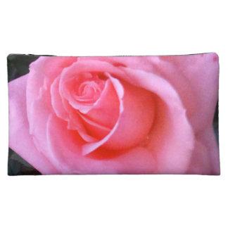 Sac de cosmétique de flower power de rose de rose pochette à maquillage