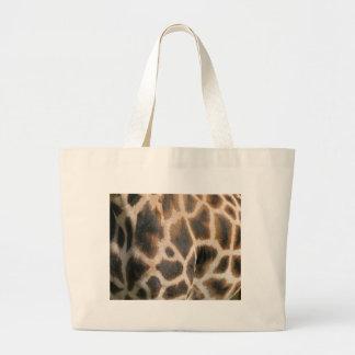Sac de toile de motif d'impression de girafe