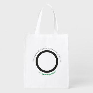 sac d'essaim sacs d'épicerie réutilisables
