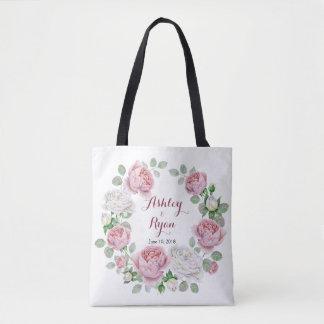 Sac floral de mariage de rose chic rose de