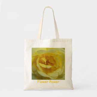 Sac fourre-tout à flower power de rose jaune