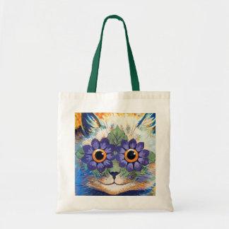 Sac fourre-tout vintage à art de chat de flower po