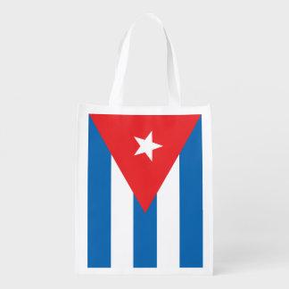 Sac réutilisable de drapeau cubain sacs d'épicerie