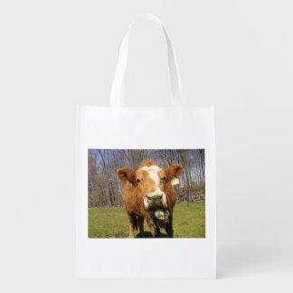 Sac réutilisable de vache sac réutilisable d'épcierie