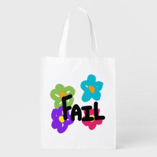 Sac réutilisable d'échouer - fleur sacs d'épicerie réutilisables