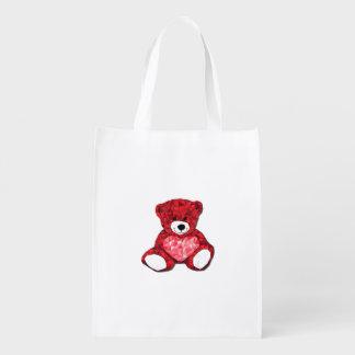 Sac réutilisable d'ours de nounours sacs d'épicerie réutilisables