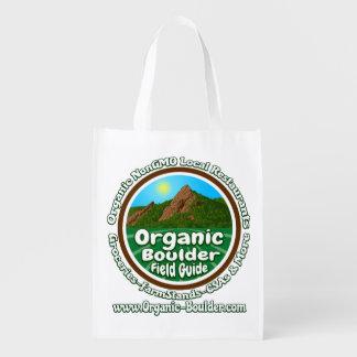 Sac réutilisable du logo 2-Sided d'OBFG Cabas Épicerie