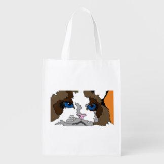 Sac Réutilisable Sac d'épicerie réutilisable de chat