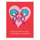 Sache 2 Dr.-Seuss Valentine | Sache-1 Postkarte
