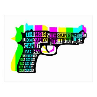 Sachen mit Gewehren an Postkarte