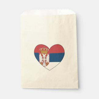 Sachets En Papier Drapeau de la Serbie simple