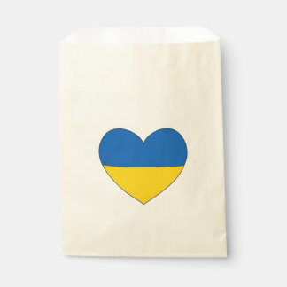 Sachets En Papier Drapeau de l'Ukraine simple