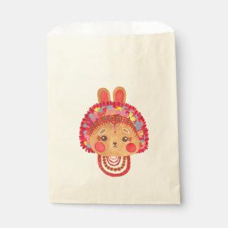 Sachets En Papier Le lapin de couronne de fleur