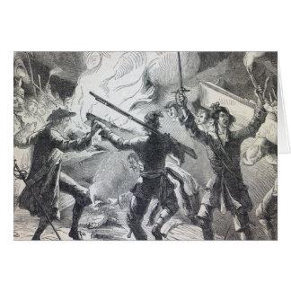 Sacheverell Aufständischer zerstören Teil einer Ka Grußkarte