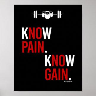 Sachez que la douleur savent le gain --    Humour Poster