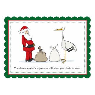 Sack-Schwangerschafts-Weihnachtsmitteilungs-Säcke Karte