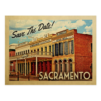 Sacramento Save the Date Kalifornien Postkarte