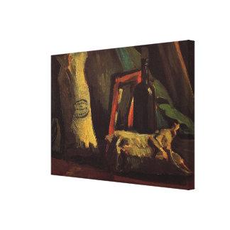 Sacs à Van Gogh deux et bouteille, de cru toujours Toile Tendue