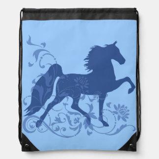 Saddlebred fünf Gangart-Blumenblau Sportbeutel
