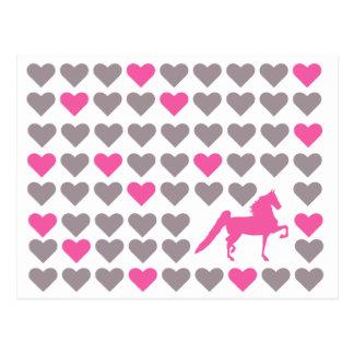 Saddlebred Postkarte - Amerikaner Saddlebred Liebe