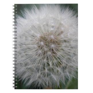 Säen des Löwenzahn-Blumen-Notizbuches Notizblock