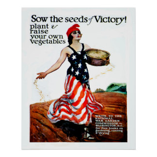Säen Sie die Samen des Sieges (wieder hergestellt) Poster