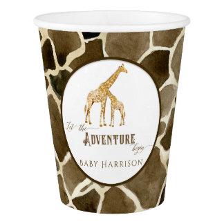 Safari-Abenteuer-Giraffen-themenorientierte Pappbecher