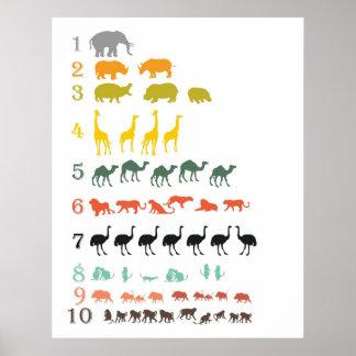 Safari africain comptant l affiche