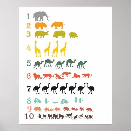 Safari africain comptant l'affiche