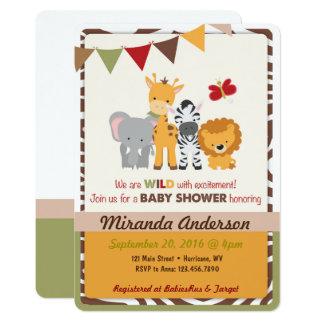 Safari-Babyparty-Einladung 12,7 X 17,8 Cm Einladungskarte
