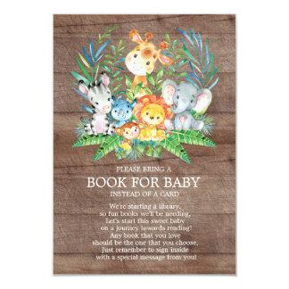 Safari-Dschungel-neutrales Babyparty-Buch für Baby Karte