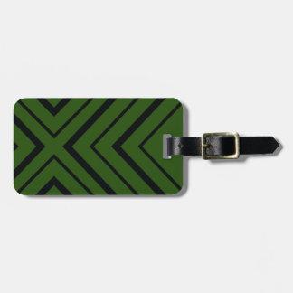 Safari-grüner Diamant-Gepäckanhänger Kofferanhänger