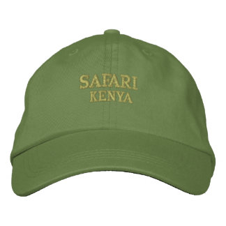 Safari Kenia Bestickte Kappe