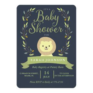Safari-Löwe-Babyparty-Einladung Karte