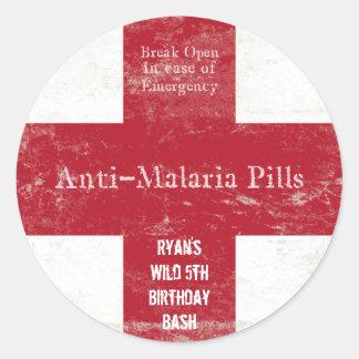 Safari-Malaria-Aufkleber Runder Aufkleber