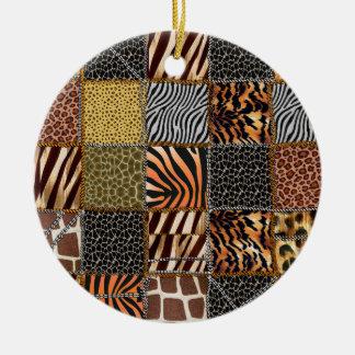 Safari-Patchwork Kreis-Verzierung