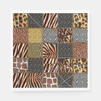 Safari-Patchwork Papierservietten